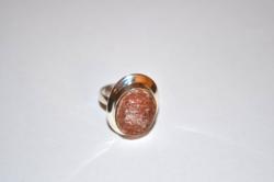 Ezüst gyűrű habkorall? kővel