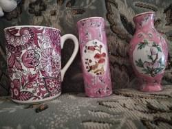 Kávés pohár ajándék mini vázákkal