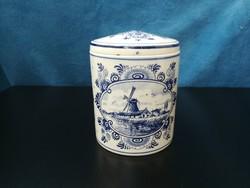 Holland porcelán tároló