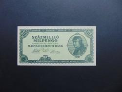 100 millió milpengő 1946  aUNC ! Hajtatlan bankjegy