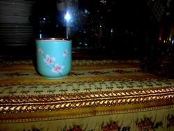 Bakos Éva különleges kézi festett szignált  pohár