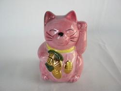 Kerámia integető cica macska