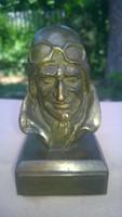 Baro von Richthofen német repülős bronz szobor I.világháború-katonai