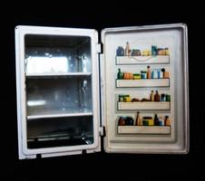 Babaházi lemez hűtőszekrény