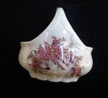Levendulás KPM porcelán kosár