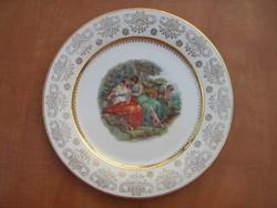 Német porcelán jelenetes tányér