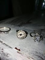 A leggyönyörűbb ezüst gyűrűk. 3 db készlet! Az ár együtt értendő!