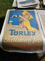 Méteres Törley plakát, kicsit beszakadt széllel