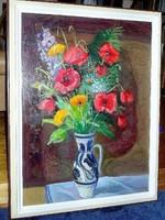FARKAS LAJOS eredeti olajfestménye Garanciával! (80 cm x 60 cm; olaj-farost)
