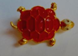 Retró teknősbéka bross 196.