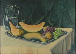 0X291 Bokor jelz. : Asztali gyümölcscsendélet 1933