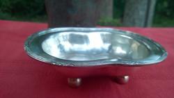 """Antik ezüstözött tálka-kínáló 4 golyólábon """"asztali ékszer"""""""