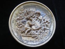 Johann Maresch  fali dísztányér  pottókkal  32 cm