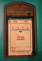 Asztali Naptár - 1938 - SIPICZKY JÁNOS Vendéglős Borpincészete