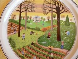 Villeroy & Boch porcelán falitányér, dísztárgy