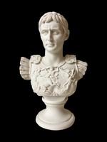 Augustus Római Császár mellszobor - Augustus szobor (Fehér márvány)