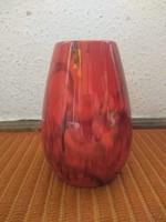 Zsolnay vörös márványos eozin váza