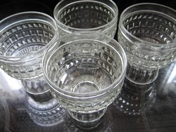 OETKER WELTBERÜHMT vintage 4 db-os pohár készlet