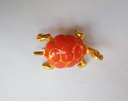 Retró teknősbéka bross 120.