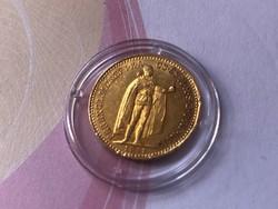 1911 arany 10 korona ,3,38 gramm 0,900 szép darab