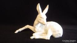 Wallendorf porcelán őz szobor