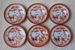 Japán desszertes tányérok 6 db egyben
