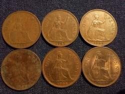 Anglia - Erzsébet királynő One Penny évszám gyűjtemény/id 7768/