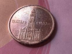 """1934""""A"""" ezüst(feliratos) 5 márka 13,88 gramm 0,900 Ritka"""