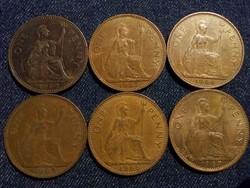 Anglia - Erzsébet királynő One Penny évszám gyűjtemény/id 7766/