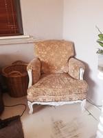 Barokk jellegű kanapé + fotel
