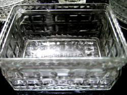 OETKER WELTBERÜHMT vintage kristály tálka, doboz