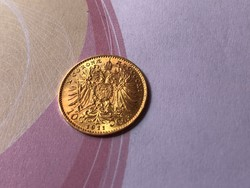 1911 arany 10 korona ,3,38 gramm 0,900 gyönyörű darab