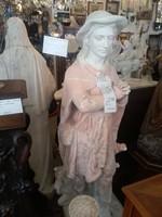 Ifj. Máriahegyi János: Szent Vendelt ábrázoló, élethű nagyságú 165 cm magas gipsz szobor