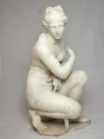 Alabástrom női szobor, XIX. sz-i akt