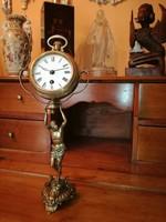 Antik Empír szobros óra 1870 környéke.