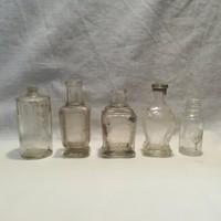 5 db antik parfümös üveg
