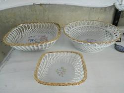 3 db-os porcelán kínáló szett / asztalközép