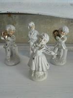 Porcelán zenekar figurák (4 db-os hiánytalan)