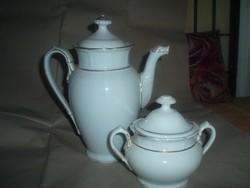 Antik,porcelán Rosenthal fehér teáskanna ,cukortartóval