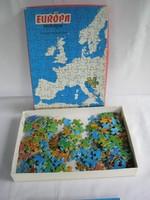 Retro Európa kirakó puzzle