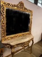 Barokk tükör konzol