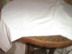 Álomszép antik  hófehér hímzett jó minőségű lepedő