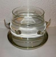 Üveg bólés tál tetővel (4 liter)