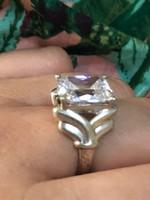 Nagyon szép ezüst hatalmas köves designer ötvös gyűrű 18mm