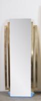Art deco stílusú fém keretes tükör