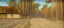 Ism.festő: Erdei út,olaj-vászon,keretezve