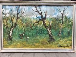 Szegvári Károly - Vadászat cimű festménye