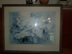 75x60+keret, kézi aranyozott litográfia, remek keretben, üveg alatt