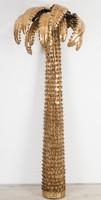 Maison Jansen terve alapján készült pálmát formázó nagyméretű állólámpa