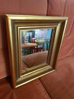 Szép mèly kèpkeret, tükörrel, 25,7x31,8 cm fészek